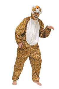 Herren Kostüm Tiger Tigerkostüm Raubkatze Karneval Fasching Gr.50