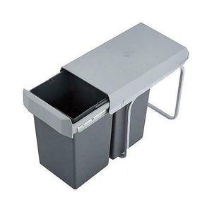 Wesco Einbau-Abfallsammler Double Boy - 30 Liter (2x15 Liter), Silber/anthrazit, ab 30er Schrankbreite