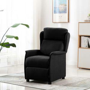 【Neu】Sessel Relaxsessel Schwarz Stoff Gesamtgröße:68 x 98 x 100 cm BEST SELLER-Möbel-Stühle-Sessel im Landhaus-Stil
