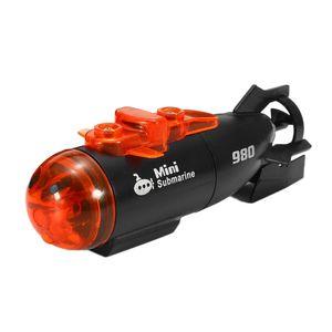 Elektrisches Spielzeug Rc Boot Rc U-Boote Minitype Kunststoff 4 Kan?le Infrarot 2 Modi LED Licht Wasser Geschenkschiff