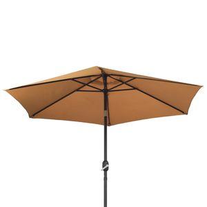 Sonnenschirm vers. Farben 270cm, Farbe:taupe, Durchm.:270 cm