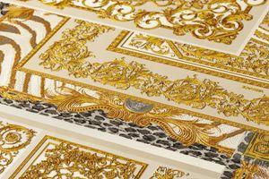 Fliesen-Tapete Tapete Fliesenoptik Beige Crème Grau Silber Vliestapete Beige Crème Grau Silber 370484 37048-4 | Tapeten Online-Shop