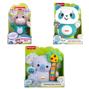 SPAR-SET 183208 - fisher-price - BlinkiLinkis - Super-Set mit 3 Tieren: Koala, Panda und Elch