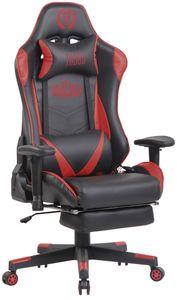 CLP Bürostuhl Lux XFM Kunstleder mit Massagefunktion, Farbe:schwarz/rot
