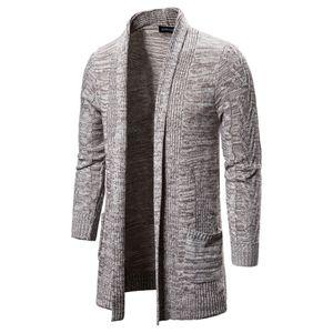 Herren Casual Solid Knit Trenchcoat Jacke Strickjacke Langarm Outwear Bluse Größe:XL,Farbe:Ocker