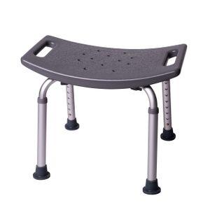 ONVAYA Badhocker Kunststoff grau | 150 kg | Duschhocker höhenverstellbar | Duschsitz | Duschstuhl | Duschhilfe
