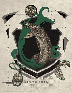 FaNaTtik Harry Potter Kunstdruck Slytherin 36 x 28 cm FNTK-THG-HP16