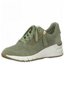 Tamaris Damen Low Sneaker 1-23790-26 Grün 763 Pistacchio Leder und Textil mit Herausnehmbare Innensohle, Groesse:38 EU