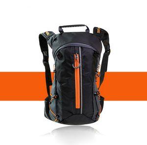 10L Wasserdichter Rücksack Fahrradrucksäcke Wasserdicht Leichter Wanderrucksack, Orange