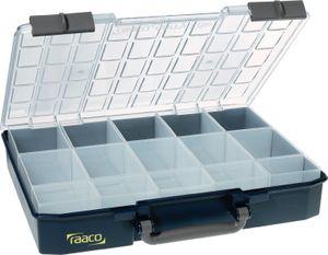 raaco Sortimentskasten Breite 413 x Tiefe 330 x Höhe 79mm 15 Fächer Unterteil Polypropylen / Deckel aus Polycarbonat - 136310