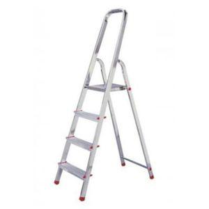 Dönges Stehleiter, Alu, einseitig, 5 Stufen, Länge 170 cm, Höhe Podest 111 cm