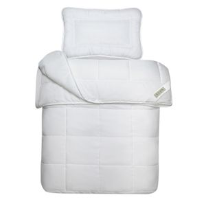Julido 4-Jahreszeiten Kinderbett 100x135cm Decke mit 200+300g Füllung und Kissen 40x60cm mit 150g Füllung Microfaser