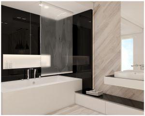 Halb-Kassetten Duschrollo 100x240 Modell transparent Duschvorhang