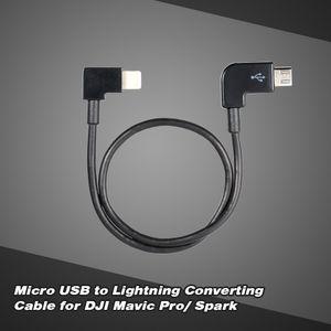 Micro USB to Lightning Fernbedienung Tablet Telefon Datenkonverter Transferkabel fuer Android iOS DJI Spark Mavic Pro
