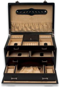 WINDROSE Ambiance Jewelry Box with 2 Closures Black