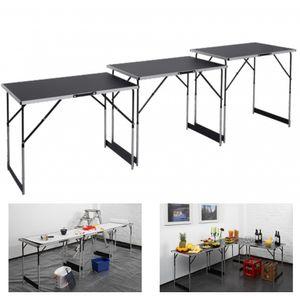 Meister Multifunktionstisch 3-teilig ✓ 30 kg Tragkraft je Tisch (100 x 60 cm) ✓ 4-fach höhenverstellbar ✓ Klappfunktion | Tapeziertisch | Buffettisch | Flohmarkttisch | Beistelltisch