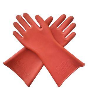 1 Paar Elektriker Handschuhe Hochspannungs Isolierhandschuhe Schutzausrüstung 12kv rot