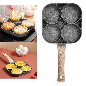 4-Loch-Omelettpfanne Ei Braten Kochen Küche Gasherd + Induktionsherd(Ohne Griff) Farbe Gasherd + Induktionsherd