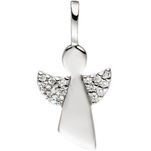 JOBO Anhänger Engel 925 Sterling Silber mit Zirkonia Silberanhänger Schutzengel