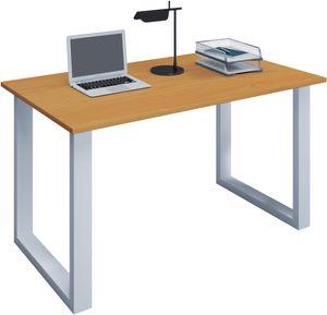 """VCM Schreibtisch Computertisch Arbeitstisch Büro Möbel PC Tisch """"Lona"""" B. 140 x T. 80 cm: Buche"""