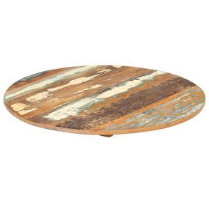 vidaXL Tischplatte Rund 70 cm 15-16 mm Altholz Massiv