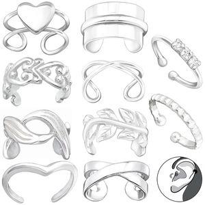 Ohrklemme Silber 925: Ear Cuff Ohrring ohne Loch / Ohrmanschette, Modell:Modell 10