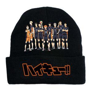 Anime Haikyuu Elastic Cap Hat Cotton Multipurpose Knitted Cap Keep Warm Hat Winter Cap Outdoor Leisure Fashion Sun Hat -BK1