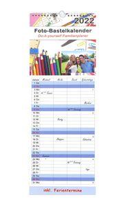 Kalender 2022 Familienplaner mit 4 Spalten Küchenkalender Terminplaner Bastelkalender XL zum Selber gestalten Höhe 53 cm