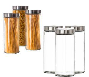 Vorratsgläser 3x 2,2 Liter Set Glas Schraubglas Lebensmittelglas Edelstahldeckel Schraubverschluss