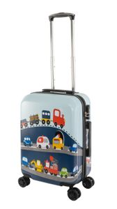 Travelhouse - Happy Children - Busy Cars - Kinderkoffer Kindertrolley 41L