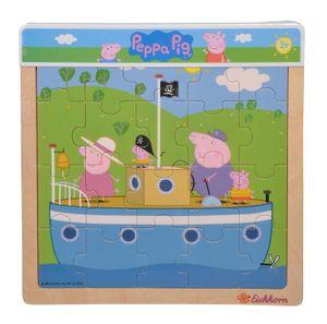 Simba 09265701 Peppa Pig Einlegepuzzle, 3-fach sortiert