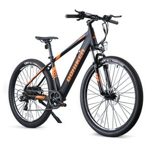 DOHIKER 27,5 Zoll E-Bike Elektrofahrrad Fahrrad Electric Bike E-MTB Mountainbike Elektrofahrrad Citybike Elektrofahrrad mit LED Leucht Scheinwerfer 25km/h 250W 36V 10Ah