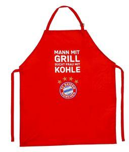 FC Bayern München Grillschürze Mann mit Grill rot