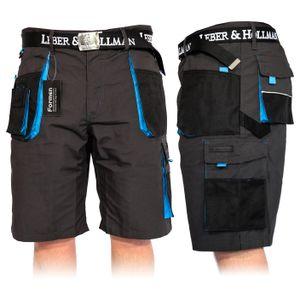 Arbeitshose Kurze Hose Kurz Bermuda Shorts Grau Schwarz Blau Gr. L