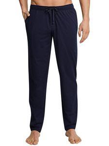 Schiesser Herren lange Schlafanzughose Loungehose Lang - 163840, Größe Herren:54, Farbe:dunkelblau
