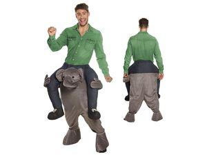 Lustiges Step-In Huckepack Elefant Kostüm