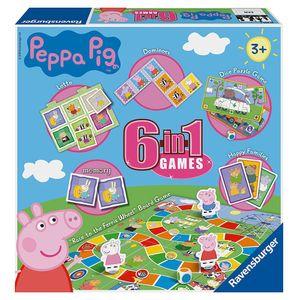 Spiele Box   6 in 1   Peppa Wutz   Peppa Pig   Ravensburger   Spielesammlung