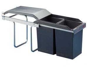 Hailo Mülleimer Küche, Einbau ab 30 cm Schrank, 2-fach Abfalleimer