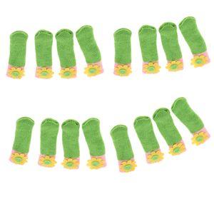 Gestrickte Stuhlsocken wie beschrieben Grün (Sonnenblume)