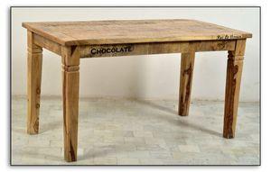 Sit Möbel RUSTIC Tisch lackiertes Mangoholz |L 140 x B 70 x H 76 cm | natur / antik | 01914-04 | Serie RUSTIC