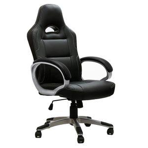 Intimate WM Heart Bürostuhl, Gaming-Stuhl, Racing Gaming Stuhl, Schreibtischstuhl mit hoher Rückenlehne, Höhenverstellbarer Drehstuhl Chefsessel, Schwarz