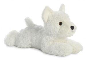 Aurora kuscheltier Hund Westie Flopsie 30,5 cm weiß