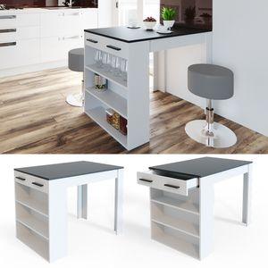 Vicco Bartisch Esstisch Tisch Bistrotisch Essplatz Schublade Regal Bar
