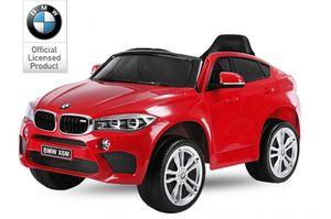 BMW X6M SUV Kinder Elektro Auto Kinderfahrzeug Ledersitz Gummireifen 2x45W USB MP3 12V Rot