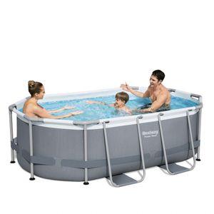 Bestway 5614A Power Steel Ovaler oberirdischer Pool 305x200x84cmGestalten: Oval, Maße: 3 - 3,99 m, Höhe (cm): 84, Breite (cm): 305, Zusammensetzung: PVC, Länge (cm): 200, Filterpumpe: 58381