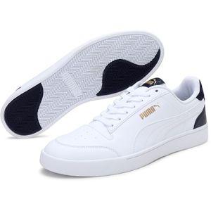 Puma Shuffle White White Peacoat Team Gold Größe EU 43 Normal