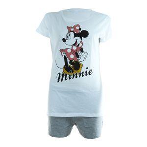 Schlafanzug Damen Pyjama kurz Disney Minnie Mouse Shorty Set - Grau / Schwarz, Größe TVM Europe:L Damen