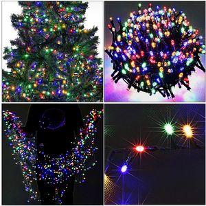 Lichterkette 700 LED 14m bunt für Außen & Innen mit 8 Leuchtfunktionen mehrfarbig Weihnachtsbaum Weihnachtsbeleuchtung Weihnachtsdekoration Weihnachtsdeko