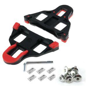 1 Paar Shimano SPD-SL Cleats SM-SH11 Schuhplatte Pedalplatten für Fahrradschuhe - Schwarz & Rot