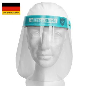 Faceshield Gesichtsschutz wiederverwendbar Schutzvisier Gesichtsschutzschirm Gesichtsvisier Augenschutz Visier transparent